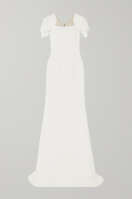 Roland Mouret Clovelly Wool-crepe Gown - White