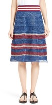 RED Valentino Women's Raffia Knit Skirt
