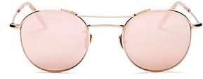 Krewe Women's Orleans Mirrored Round Sunglasses, 48mm