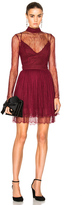 Nicholas Long Sleeve Mini Dress in Burgundy.