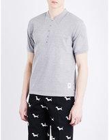 Thom Browne Trompe L'oeil Collar Cotton-jersey Polo Shirt