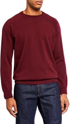 Ghiaia Men's Solid Cashmere Raglan-Sleeve Sweater