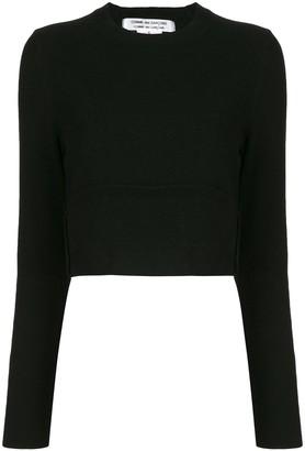 Comme des Garçons Comme des Garçons Crew-Neck Cropped Sweater