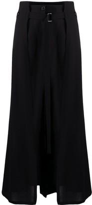 Ann Demeulemeester Layered Skirt Trousers