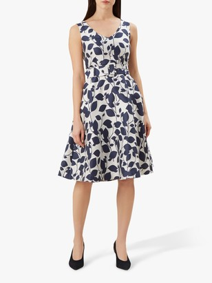 Hobbs Botanical Grace Dress, Ivory Midnight
