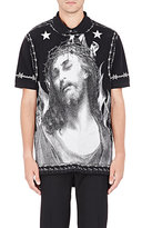 Givenchy Men's Iconography Polo Shirt-BLACK