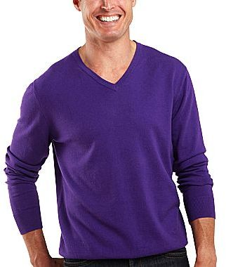 JCPenney jcpTM Cotton/Cashmere V-Neck Sweater
