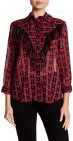 Anna Sui Hearts & Dots Button Down Shirt
