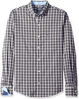 Izod Men's Advantage Performance Long Sleeve Slim Plaid Shirt
