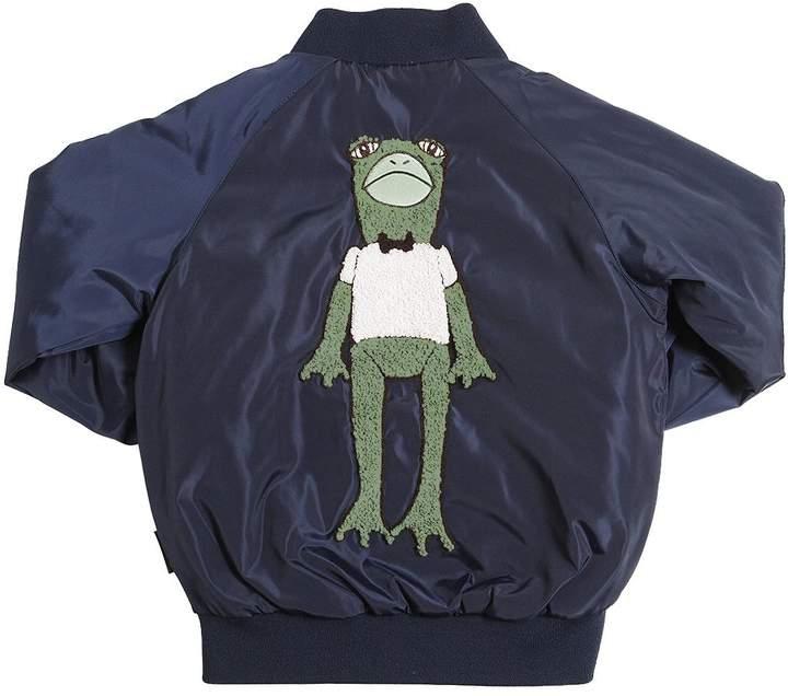 Mini Rodini Frog Patch Nylon Padded Bomber Jacket
