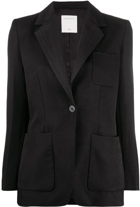 Sandro Paris Fitted Long Sleeve Blazer