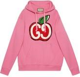 Gucci GG apple print hoodie