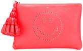 Anya Hindmarch Georgiana Smiley clutch - women - Calf Leather/Leather - One Size