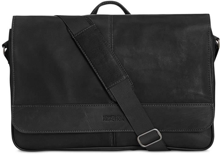 Kenneth Cole Reaction Men's Colombian Leather Computer Messenger Bag