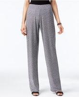 Alfani Petite Wide-Leg Knit Pants, Only at Macy's