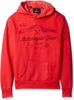 Buffalo David Bitton Men's Fiwood Long Sleeve Pullover Hooded Sweatshirt