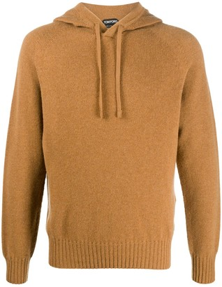 Tom Ford Cashmere Ribbed-Edge Knitted Hoodie