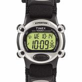 Timex Men's Expedition Digital Chronograph Black Fabric Hook-and-Loop Strap Watch
