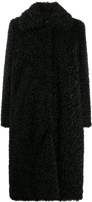 Stand Studio Kylie Fitter Long Faux Shearling Coat