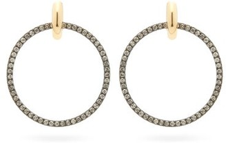 Spinelli Kilcollin Casseus Noir Diamond & Rhodium-plated Earrings - Womens - Black