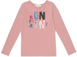 Bonpoint Logo cotton jersey top