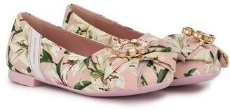 Dolce & Gabbana Floral Print Ballerina Shoes