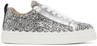 Chloé Silver Glitter Lauren Sneakers