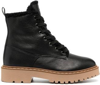 Hogan Leather Biker Boots