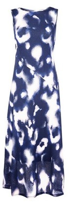 Dorothy Perkins Womens Blue Tie Dye Mesh Midi Dress, Blue