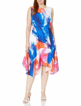 Julia Jordan Women's Plus Size Floral Fit and Flare Midi Dress