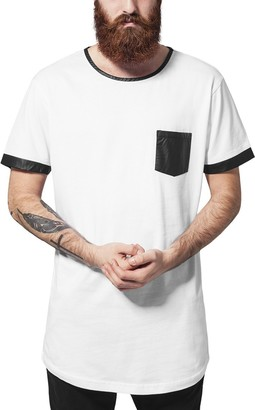 Urban Classics Men's Long Shaped Leather Imitation Tee T-Shirt