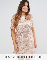 Truly You All Over Embellished Cap Sleeve Dress