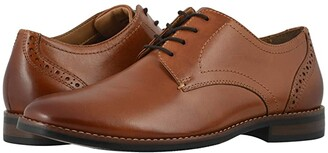 Nunn Bush Fifth Ward Flex Plain Toe Oxford (Cognac) Men's Shoes