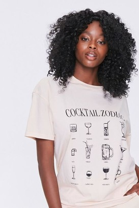Forever 21 Cocktail Zodiac Graphic Tee