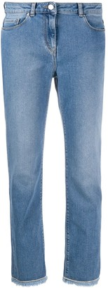 Fabiana Filippi Mid-Rise Fringed-Hem Jeans