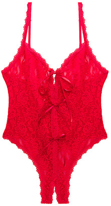 Hanky Panky Racy Signature Lace Open Teddy