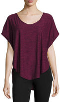 Beyond Yoga SCALLOPED TEE BLACK MERLOT