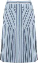 Isabel Marant Sphery striped cotton skirt
