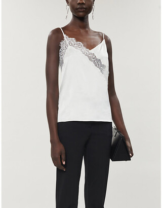 Pinko Hamburger stretch-silk lace top