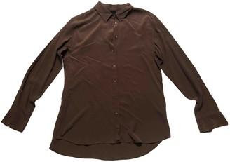 Aspesi Brown Silk Top for Women