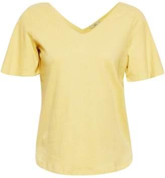 Esprit Short-Sleeved T-Shirt with V-Neckline Front and Back