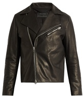 Acne Studios Axl suede-panel leather jacket