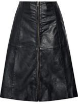 Muu Baa Muubaa Flared Leather Skirt