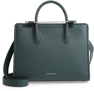 Strathberry Midi Calfskin Leather Convertible Tote