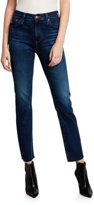 AG Jeans Mari High-Rise Slim-Leg Jeans