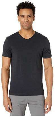 Rhone Element V-Neck Tee (Black) Men's Clothing