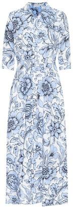 Erdem Kasia floral linen dress