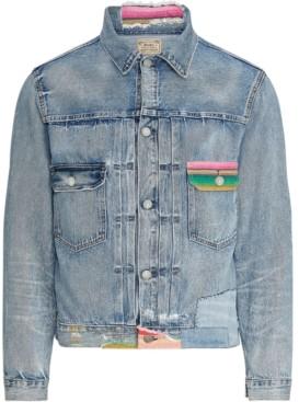 Polo Ralph Lauren Men's Repaired Denim Trucker Jacket