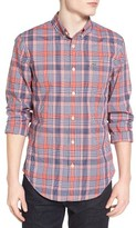 Lacoste Men's Slim Fit Plaid Woven Shirt