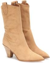 Aquazzura Boogie Cowboy 70 suede ankle boots